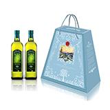 阿茜娅  意大利进口  特级初榨橄榄油 圣雅礼盒 1000ml*2 简装