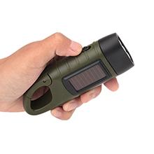 恩谷 太阳能迷你手电筒 手摇自发电充电 强光远射 EG-409A