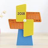 2018狗年荷兰风车笔筒收纳桌面台历SD-8258