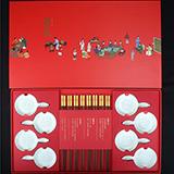 清朴堂 箸意·欢筷家庭八双装