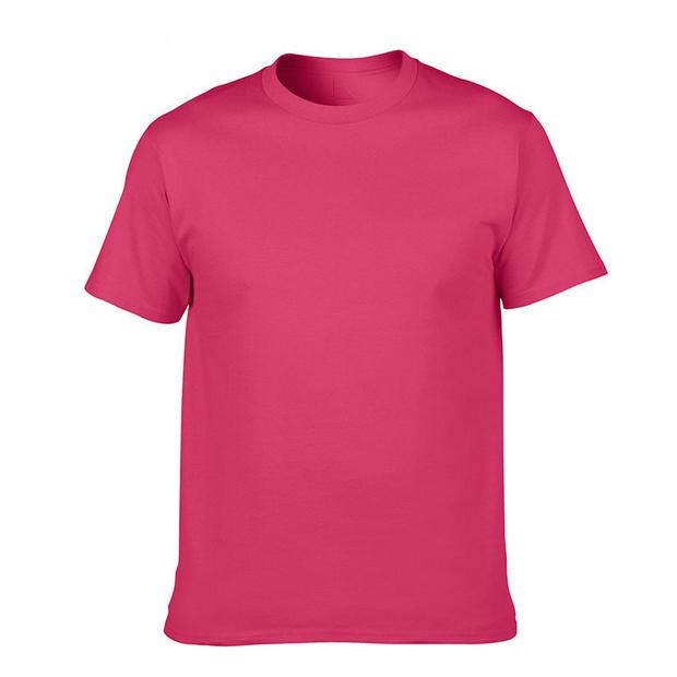 170g全棉纯色圆领短袖T恤 logo可定制
