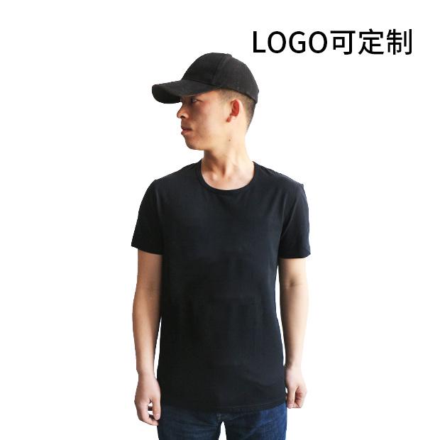 190g纯棉 100%精梳棉圆领 短袖T恤 Logo可国产在线视频超频