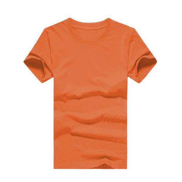 180g纯色圆领短袖T恤 logo可定制