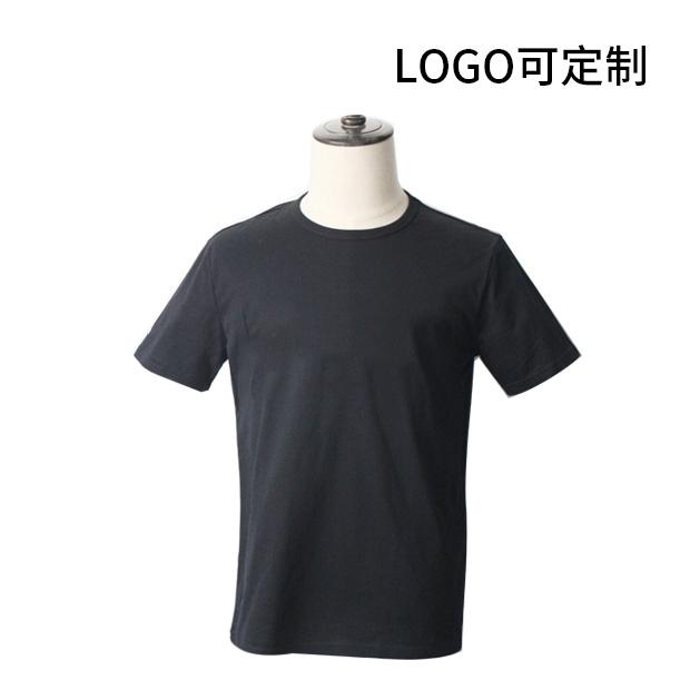 氨纶棉短袖圆领休闲T恤 Logo可国产在线视频超频