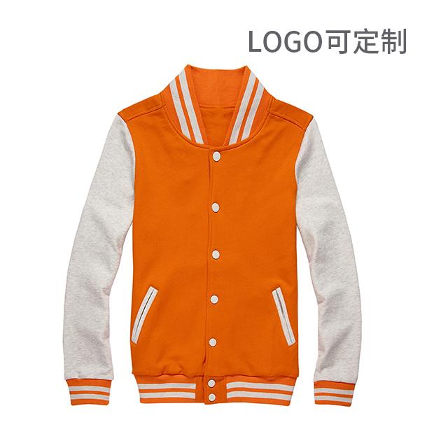480gCVC 棒球服 夹克衫 长袖卫衣LOGO可定制