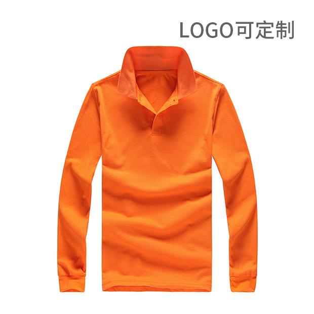 翻领长袖POLO衫 logo可定制