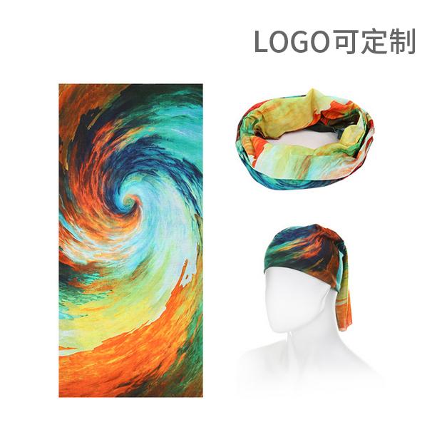 百變魔術頭巾 圖案可定制 Logo可定制
