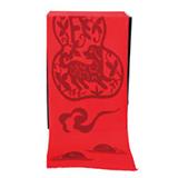 芳恩家纺 艾丝雅兰 A-D302中国红蚕丝绒围巾披肩两用定制秋冬季开门红流苏保暖纯色福利 旺到福到