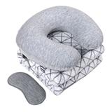 艺色 ES-L413 贴心旅途三件套 毛毯充气枕眼罩旅游便携三件套