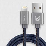 Recci銳思 牛仔系列蘋果手機數據線2.4A極速充電