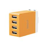 銳思(Recci) 魔方充電器 4U (充電插頭)橙色