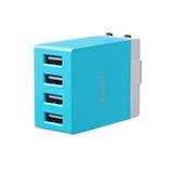銳思(Recci) 魔方充電器 4U (充電插頭)藍色