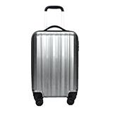 SYYTSSCEAR拉杆箱20寸 PC ABS材质轻盈旅行箱万向轮行李箱 银灰色