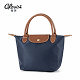 Glovin唯飾 尼龍防水手提包袋 深藍色