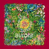 奥罗拉(aurora)舞蹈的绿桑蚕丝丝巾110*110cm  B0-003