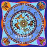 奥罗拉(aurora)越影追风桑蚕丝丝巾 90*90cm  B5-005