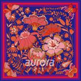 奥罗拉(aurora)花样年华桑蚕丝丝巾 66*66cm B2-012