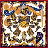 奥罗拉(aurora)骑士桑蚕丝丝巾90*90cm  B1-117