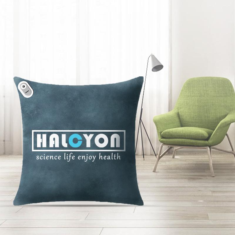 和正(HALCYON)多功能按摩抱枕 腰部震动按摩器 按摩器腰靠毯子三合一