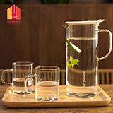 sohome 白色枫杨耐热玻璃水具三件套 GR150-A