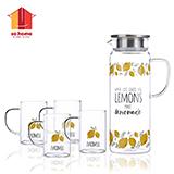 sohome  檸檬耐熱玻璃水具五件套 GR467-B