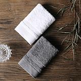 戴洛倫 雅仕長絨棉方巾套裝B(白+淺灰)DRON-MJ1002B
