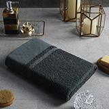 戴洛伦 雅仕长绒棉单条浴巾(深灰) DRON-MJ1005