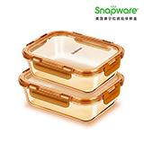 美国康宁Amber Clear 琥珀保鲜盒 WK-HP-2A(两件套)