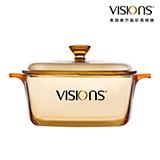 VISIONS 美國康寧晶彩透明鍋 VS-15-RV/CN 1.5升(方形煮鍋)