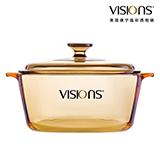 VISIONS 美國康寧晶彩透明鍋 VS-3-RV/CN  3升(方形煮鍋)