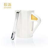 致造ZEAZAO 致在杯 强磁吸附高温白瓷带勺马克杯