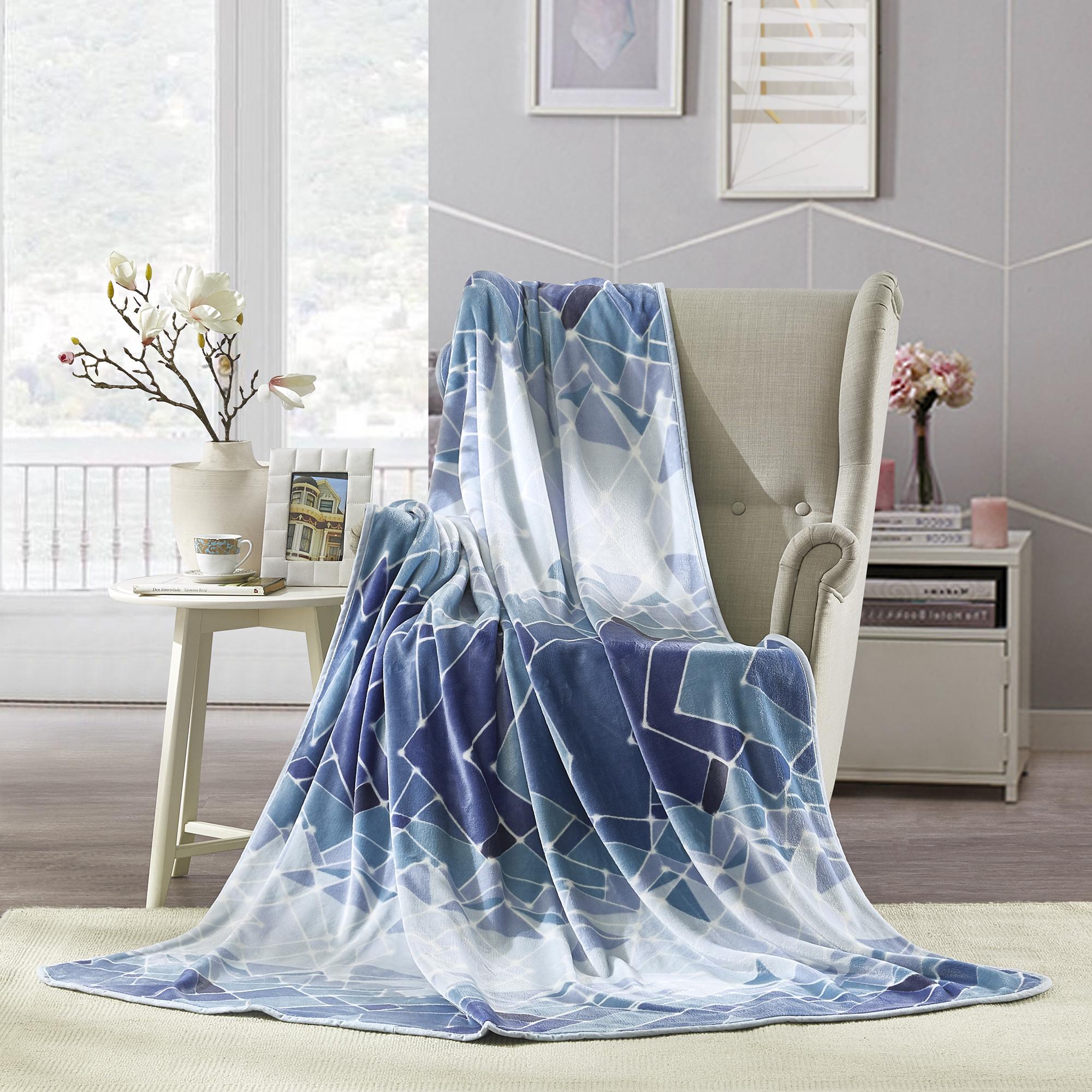 罗莱家纺TGQ054璀璨星空法兰绒毯
