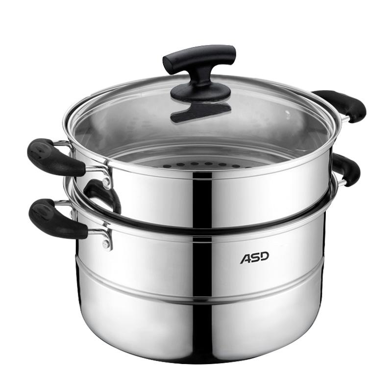 JX1526 愛仕達不銹鋼雙層蒸鍋