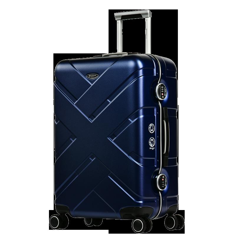 eminent雅士 金牌系列24寸铝框时尚拉杆箱20寸登机箱28寸行李箱 新品蓝 24寸