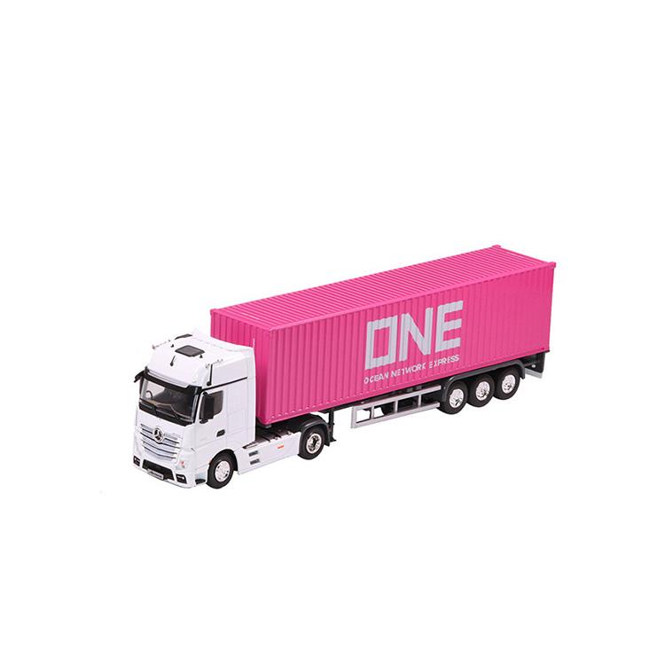 1:50 奔驰集装箱卡车模型国产在线视频超频