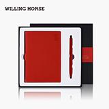 WILLINGHORSE 瑞客系列商務筆記本禮盒皮面本搭配筆
