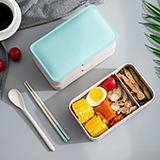 依蔓特 稻壳纤维日式午餐饭盒 微波炉可用