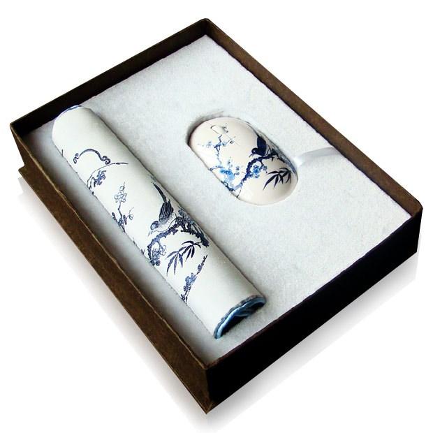 杭州造府元青花喜上眉梢絲綢兩件套裝