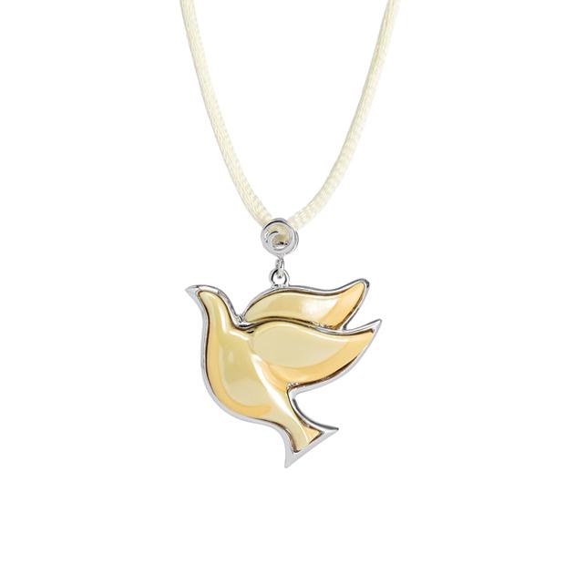 法蓝瓷之幸福白鸽项链