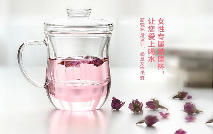 三八节福利:花茶玻璃杯