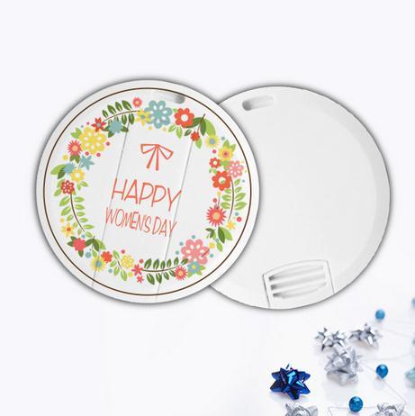 圆形卡片U盘-清新花环
