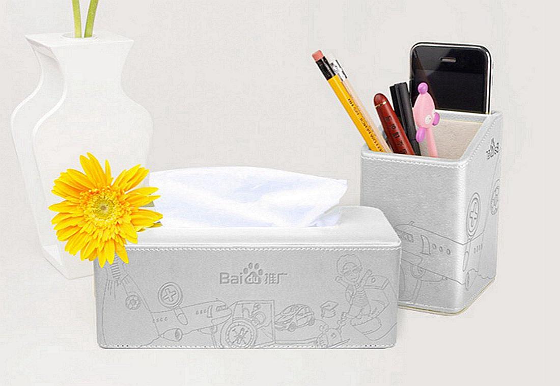 百度推广定制—办公笔筒、纸巾盒