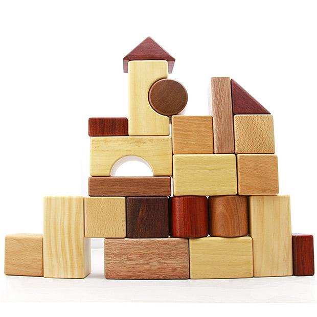 木玩世家超大块颗粒积木7种进口木材 大地之印