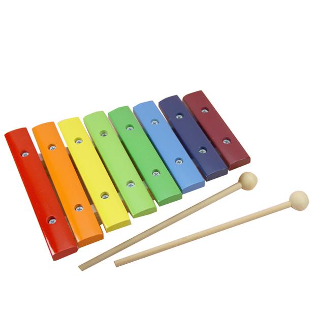 木玩世家八色八音木敲琴