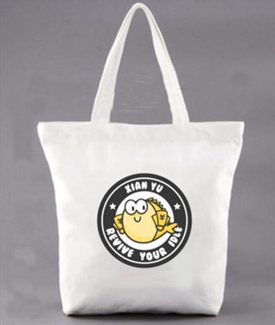 促销品:闲鱼帆布袋
