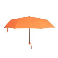雨中鸟橙色晴雨伞折叠包边伞三折雨伞