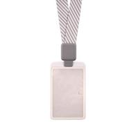 卡德仕高档时尚胸卡证件套IC/ID 白色卡套 伸缩扣挂绳