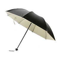 三折黑膠防曬小黑傘