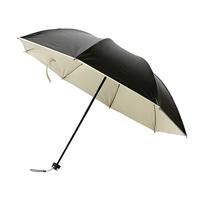 三折黑胶防晒小黑伞