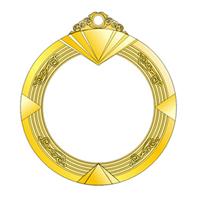鋅合金+亞克力榮譽獎章